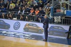 Istanbul / Turkey - March 20, 2018: Zeljko Obradovic, Serbian professional basketball head coach for Fenerbahce. royalty free stock photo