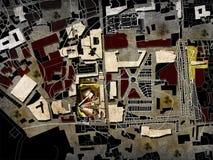 generalplan för platsplan Arkivfoto