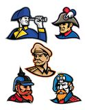Generals, Admirals and Emperor Mascot Collection Stock Images