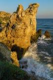 Generals beach at dawn. Karalar regional landscape park in Crimea. Stock Image