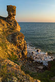 Generals beach at dawn. Karalar regional landscape park in Crimea. Royalty Free Stock Image