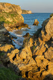 Generals beach at dawn. Karalar regional landscape park in Crimea. Stock Photography