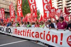 Generalstreik in Spanien Stockbild