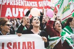 Generalstreik von Tourismus in Mailand im Oktober, 31 2013 Lizenzfreie Stockfotografie