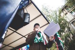Generalstreik von Tourismus in Mailand im Oktober, 31 2013 Lizenzfreie Stockfotos