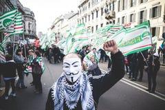 Generalstreik von Tourismus in Mailand im Oktober, 31 2013 Lizenzfreie Stockbilder