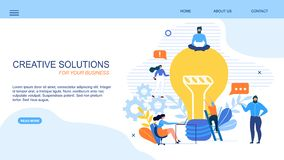 Free Generate Creative Solution Business Landing Page Stock Image - 154356171
