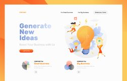 Generate New Ideas Web Page royalty free illustration