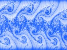 Generated blue swirls Royalty Free Stock Image