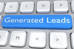Generated Leads concept Stock Images