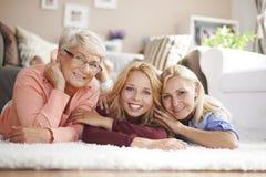 Generatie drie van vrouwen Royalty-vrije Stock Foto