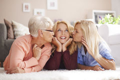 Generatie drie van vrouwen Royalty-vrije Stock Foto's