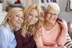 Generatie drie van vrouwen Stock Foto