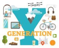 Generatie y Royalty-vrije Stock Afbeeldingen