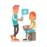 Generatie Y, het Millennial werken aan een grafische tablet Royalty-vrije Stock Fotografie