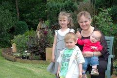 Generaties, familieuitje Stock Foto