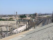 Generating plant in Aswan. A generating plant in Aswan (Egypt) in sunny ambiance Stock Photo