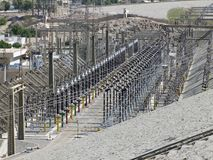 Generating plant in Aswan stock photo