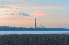 Generating Station and Wildlife Refuge Royalty Free Stock Image