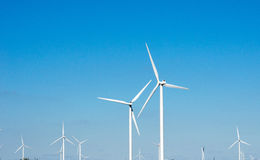 Generating Wind power stock image