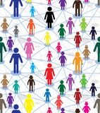 Generation diagram. Vector generation diagram, people web. Relationship network, crowd, family wallpaper. Genealogy seamless background Stock Photography