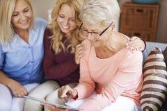 Generation drei von Frauen Stockfotos