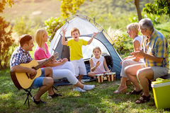 Generation family enjoying on summer day Stock Photography