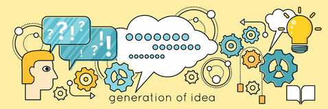 Generation of Idea Background in Flat Stock Images