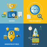 Generation of ideas start up time management Stock Photos