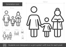 Generation line icon. Stock Images