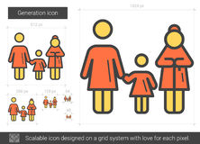 Generation line icon. Stock Photography