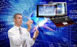 Generation new computer technology. Connect and communication Royalty Free Stock Image