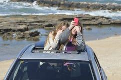 Generation selfie Schießen Lizenzfreie Stockfotografie