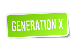 Generation x square sticker Stock Photo