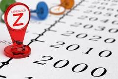 Generation Z - Timeline Stock Photo