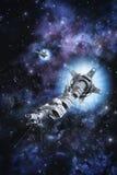 Generational spaceship in deep space Stock Photo