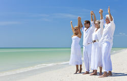 Generations of Family Celebrating on Beach Royalty Free Stock Images