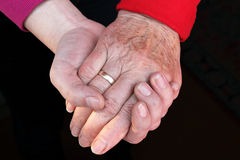 Generations of Hands Stock Photography