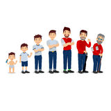 Generations man. People generations at different ages. All age categories - infancy, childhood, adolescence, youth Royalty Free Stock Photos