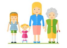 Generations of womens Royalty Free Stock Images