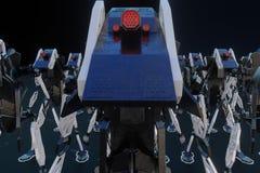 Generativ robot - illustration 3D royaltyfri illustrationer
