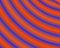 Generative Art Blue Neon Red Concentric Circles Stock Photography