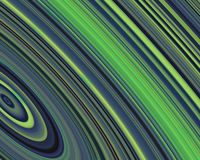 Generative Art Outer Rings Green Blue Hues Stock Photo