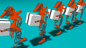 Generative Automation - 3D Illustration stock image