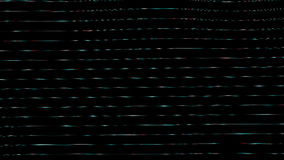 Generative Sichtbarmachungen Horizontale Wellen der Glas ähnlichen Beschaffenheit stock footage