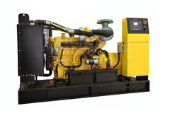 Generator. Standby generator, electric power plant, isolated Stock Photos