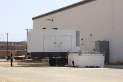 Generator angetrieben durch Dieselkraftstoff lizenzfreies stockbild