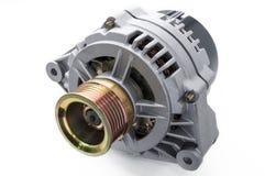 Car alternator. Isolated on a white background stock image