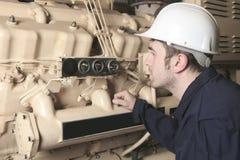 Generator in einem Krankenhaus mit Instandsetzer Stockfoto