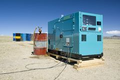 generator för diesel 02 Arkivbild
